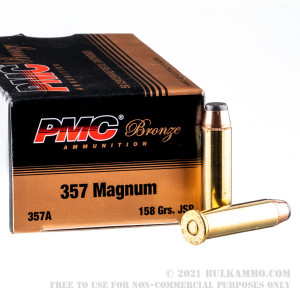 50 Rounds of .357 Mag Ammo by PMC - 158gr JSP review