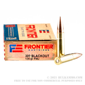 20 Rounds of .300 AAC Blackout Ammo by Hornady Frontier - 125gr FMJ review