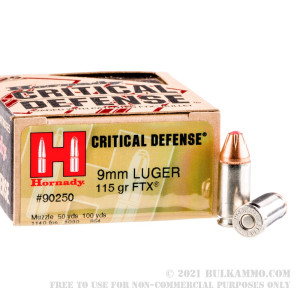 25 Rounds of 9mm Ammo by Hornady - 115gr JHP review