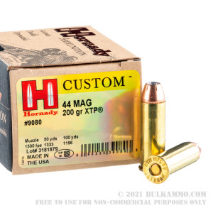 20 Rounds of .44 Mag Ammo by Hornady - 200gr JHP review