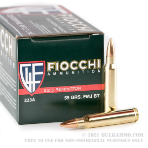 50 Rounds of .223 Ammo by Fiocchi - 55gr FMJ review