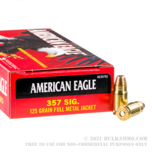50 Rounds of .357 SIG Ammo by Federal - 125gr FMJ review