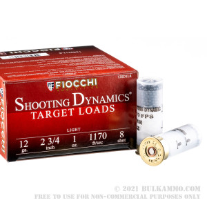 "250 Rounds of 12ga Ammo by Fiocchi - 2-3/4"" 1 ounce #8 shot review"