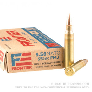 20 Rounds of 5.56x45 Ammo by Hornady Frontier - 55gr FMJ M193 review