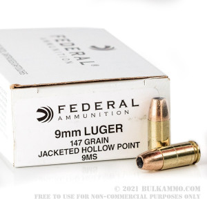 50 Rounds of 9mm Ammo by Federal - 147gr JHP Hi-Shok review