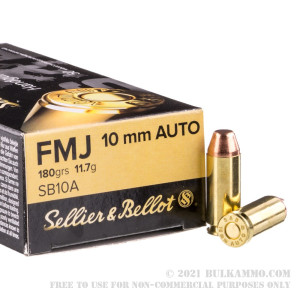 50 Rounds of 10mm Ammo by Sellier & Bellot - 180gr FMJ review