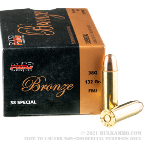 50 Rounds of .38 Spl Ammo by PMC - 132gr FMJ review
