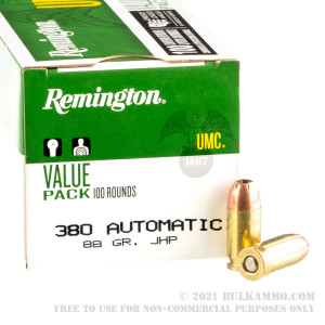 600 Rounds of .380 ACP Ammo by Remington - 88gr JHP review