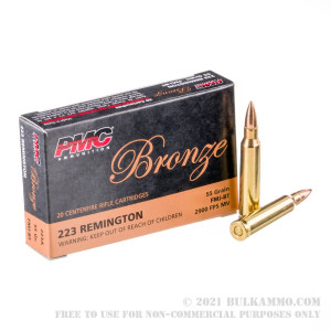 1000 Rounds of .223 Ammo by PMC - 55gr FMJBT review