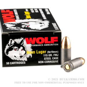1000 Rounds of 9mm Ammo by Wolf Performance (Steel Case) - 115gr FMJ review