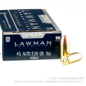 50 Rounds of .45 ACP Ammo by Speer - 230gr TMJ review