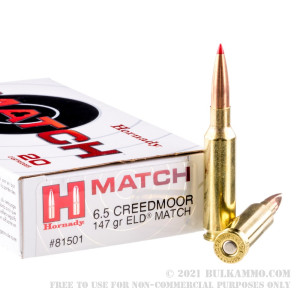 200 Rounds of 6.5 Creedmoor Ammo by Hornady - 147gr ELD Match review