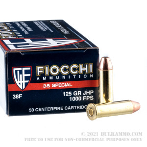 50 Rounds of .38 Spl Ammo by Fiocchi - 125gr SJHP review