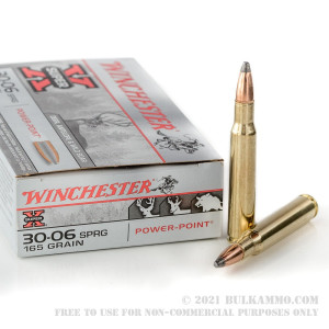 20 Rounds of 30-06 Springfield Ammo by Winchester - 165gr PSP review