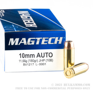 50 Rounds of 10mm Ammo by Magtech - 180gr JHP review