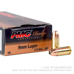 1000 Rounds of 9mm Ammo by PMC - 115gr JHP review