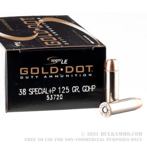 50 Rounds of .38 Spl Ammo by Speer - 125gr JHP review