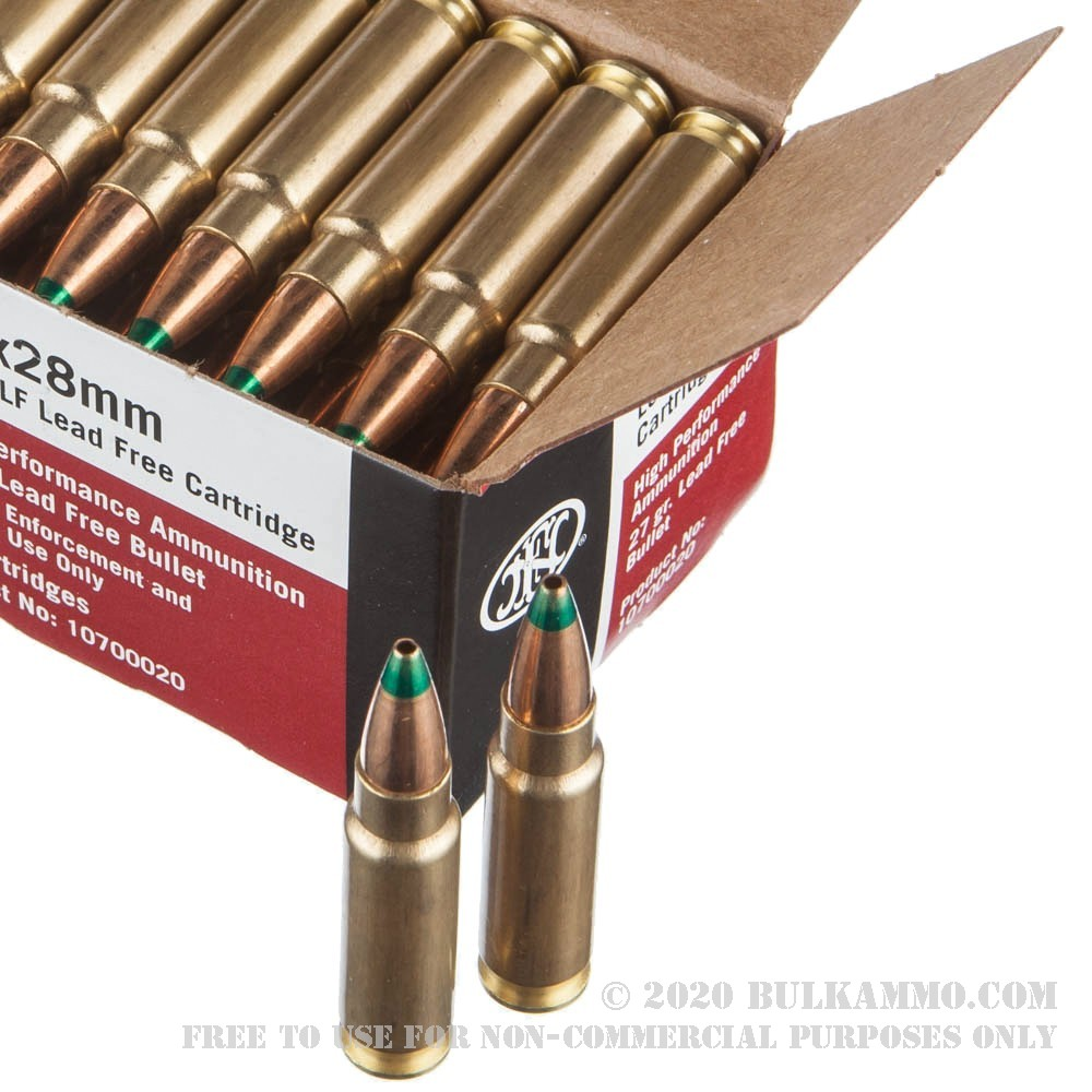 50 Rounds Of Bulk 5.7x28 Mm Ammo By FN Herstal