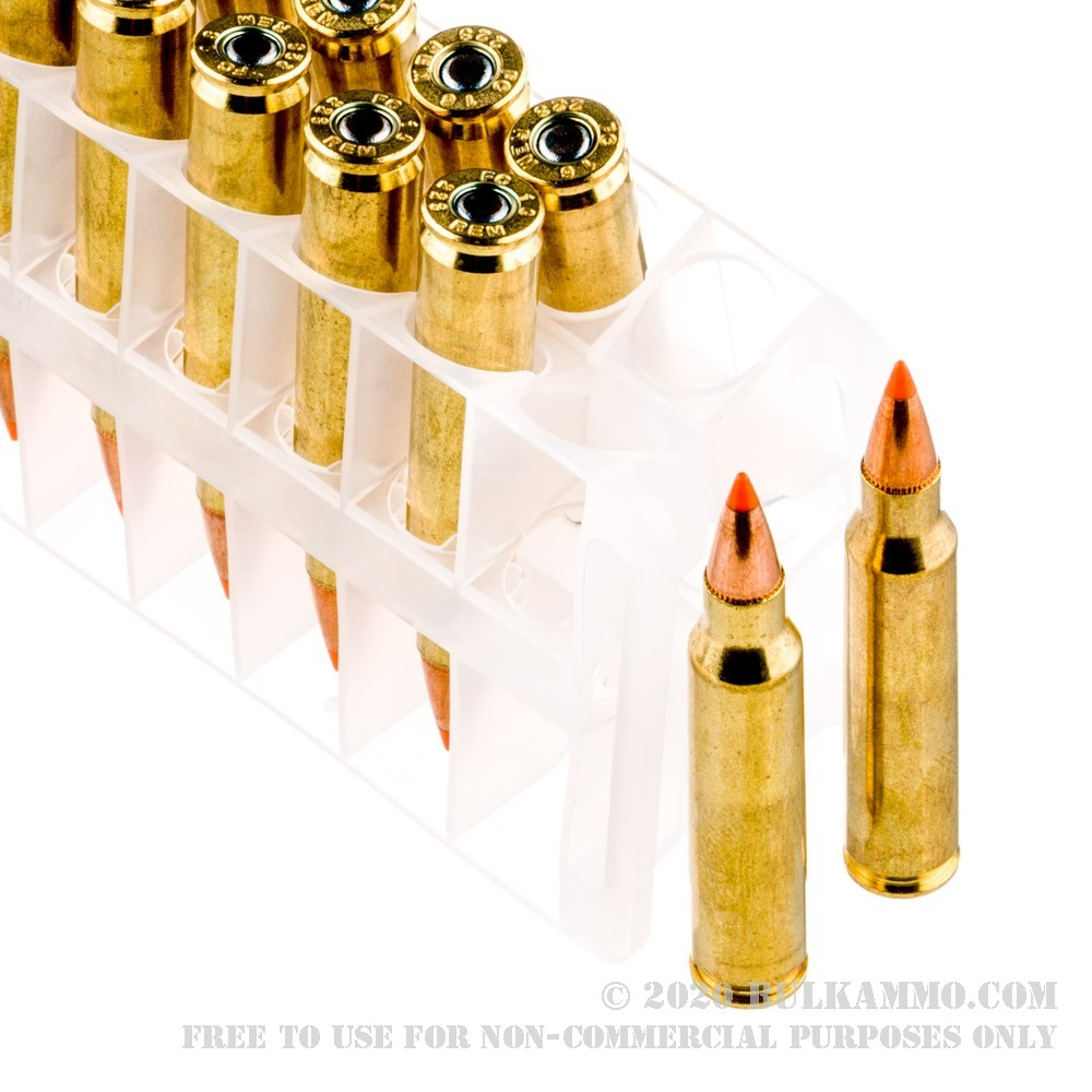 500 Rounds of Bulk .223 Ammo by Federal - 55gr Nosler ...