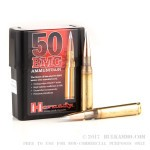 10 Rounds of .50 BMG Ammo by Hornady - 750gr A-MAX Match