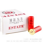 "250 Rounds of 12ga Ammo by Estate Cartridge - 2 3/4"" 1 1/8 ounce #7 1/2 shot"