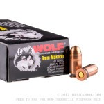 1500 Rounds of 9x18mm Makarov Ammo by Wolf - 92gr FMJ