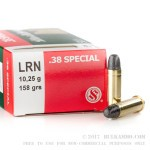 1000 Rounds of .38 Spl Ammo by Sellier & Bellot - 158gr LRN