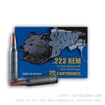 20 Rounds of .223 Ammo by Silver Bear - 55gr HP
