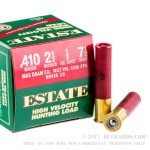 "25 Rounds of .410 Ammo by Estate Cartridge  HV Hunting - 2-1/2"" 1/2 ounce #7 1/2 shot"