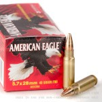 500  Rounds of 5.7x28 mm Ammo by Federal - 40gr TMJ