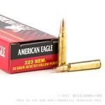 20 Rounds of .223 Ammo by Federal American Eagle - 50gr JHP