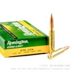 20 Rounds of .270 Win Ammo by Remington - 130gr PSP