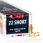100 Rounds of .22 Short Ammo by CCI - 29gr CPRN