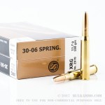 20 Rounds of 30-06 Springfield Ammo by Sellier & Bellot - 180gr XRG