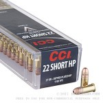 100 Rounds of .22 Short Ammo by CCI - 27gr CPHP