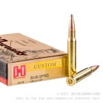 20 Rounds of 30-06 Springfield Ammo by Hornady Custom - 180gr Spire Point