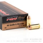 1000 Rounds of .40 S&W Ammo by PMC - 180gr FMJFN