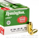 600 Rounds of .40 S&W Ammo by Remington - 180gr MC