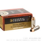 500 Rounds of 10mm Ammo by Federal - 180gr Hydra-Shok JHP