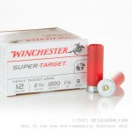 "25 Rounds of 12ga Ammo by Winchester Super Target - 2-3/4"" 1 1/8 oz. #8 shot"