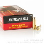 50 Rounds of 10mm Ammo by Federal - 180gr FMJ