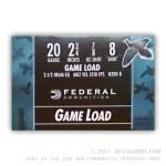 25 Rounds of 20ga Ammo by Federal Game-Shok - 7/8 ounce #8 shot