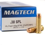1000 Rounds of .38 Spl Ammo by Magtech - 158gr FMJ