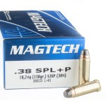 1000 Rounds of .38 Spl Ammo by Magtech - 158gr SJSP +P