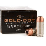 20 Rounds of .45 ACP Ammo by Speer - 230gr JHP