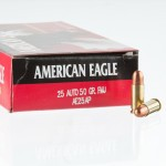 1000 Rounds of .25 ACP Ammo by Federal - 50gr FMJ