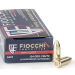50 Rounds of 9mm Ammo by Fiocchi - 124gr FMJ