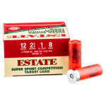 "250 Rounds of 12ga 2-3/4"" Ammo by Estate Super Sport Competition Target - 1 ounce #8 Shot"