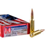 20 Rounds of 6.5 mm Creedmoor Ammo by Hornady - 129gr Interlock SPBT