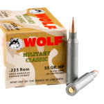 20 Rounds of .223 Ammo by Wolf WPA - 55gr HP